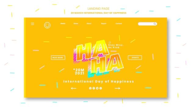 Internationale dag van geluk bestemmingspagina