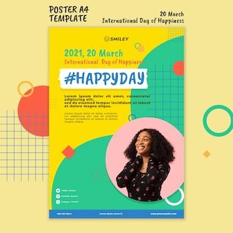 Internationale dag van geluk poster
