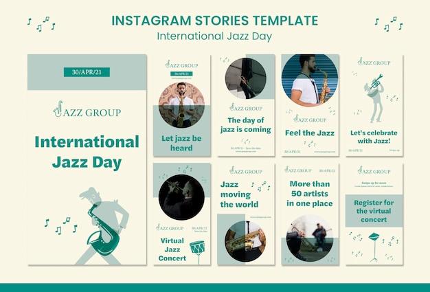 Internationale jazzdag instagram-verhalen