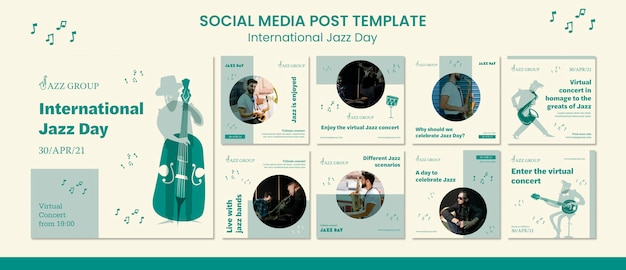 Internationale jazzdag op sociale media