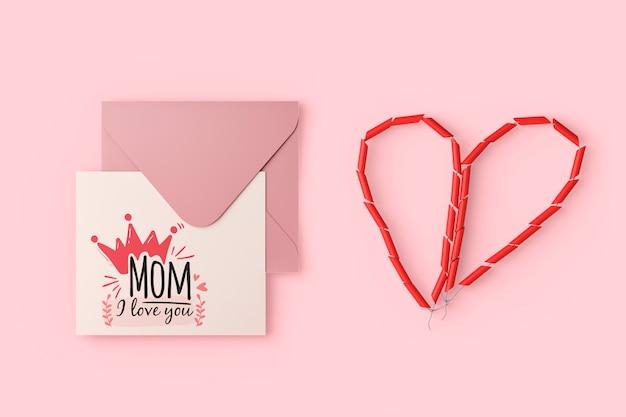 Internationale moederdagkaart met model