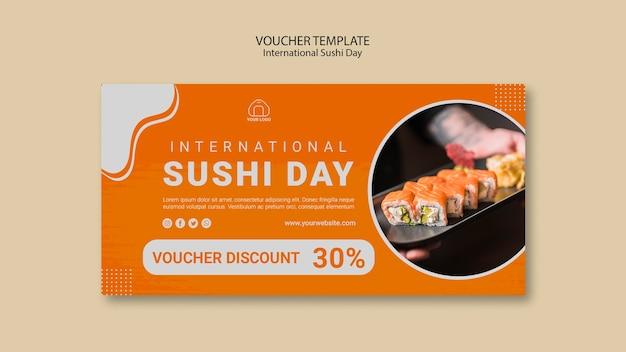 Internationale sushi-dagvoucher