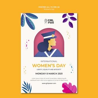 Internationale vrouwendag afdruksjabloon