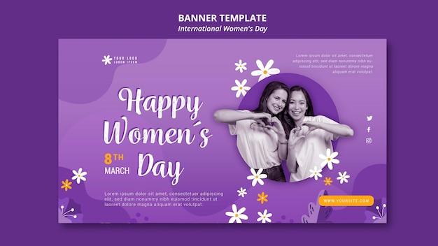 Internationale vrouwendag banner