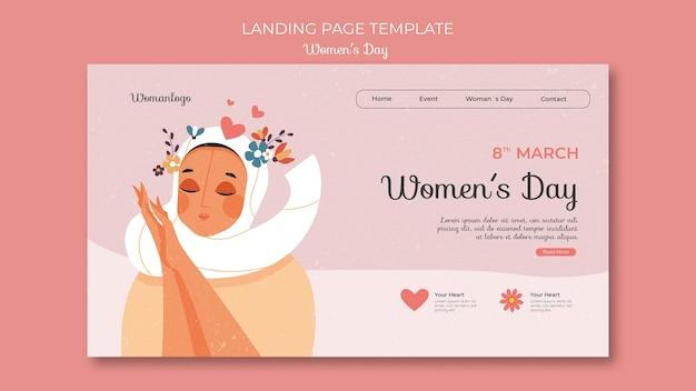 Internationale vrouwendag websjabloon