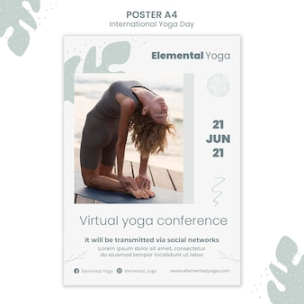 Internationale yoga dag poster