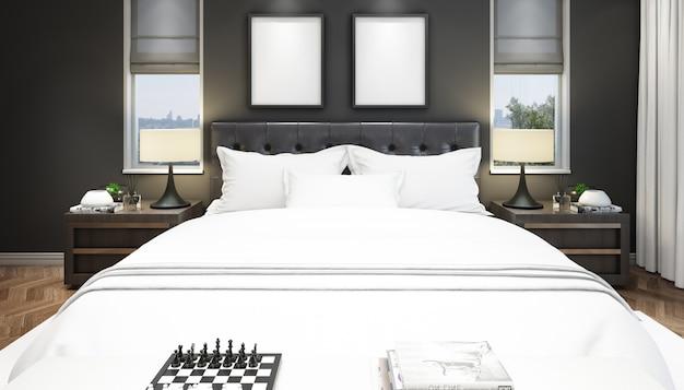Interno elegante camera da letto
