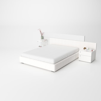 Interno moderno della camera da letto isolato