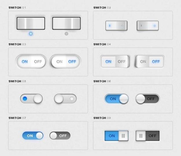 Interruptores de palanca paquete