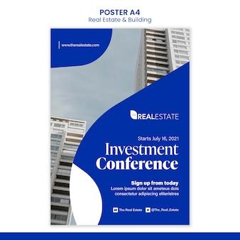 Investeringsconferentie poster sjabloon