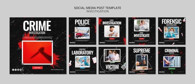 Investigación de publicación en redes sociales