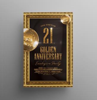 Invitación de aniversario del club