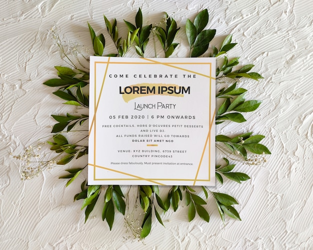Invitación a evento cuadrado / folleto / maqueta de póster