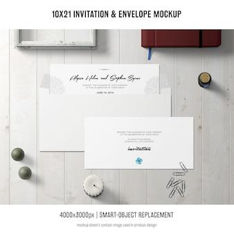 Invitación y sobre maqueta