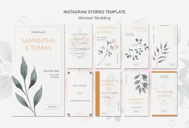 Invitaciones de boda instagram stories