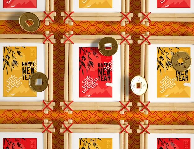 Inzameling van chinese nieuwe jaarframes