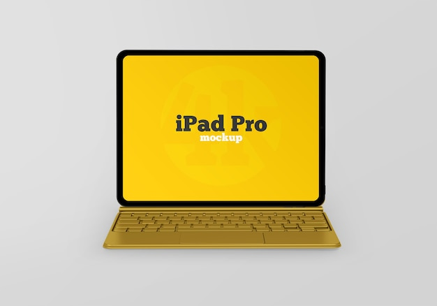 Ipad pro-mockup met toetsenbord