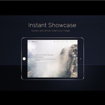 Ipad scherm mock up