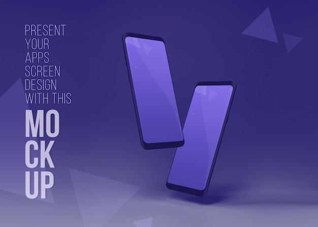 Iphone 11 pro mockup, nieuwste smart phone 11 pro max mockup om artwork te presenteren