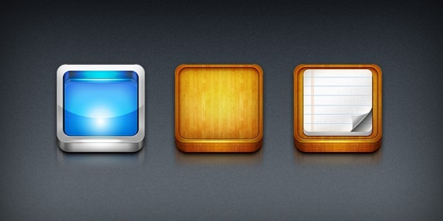 Iphone app icoon sjablonen