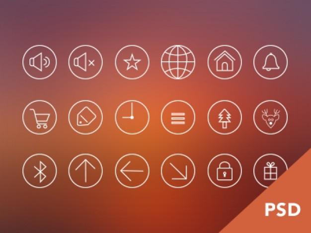 Iphone app psd iconen