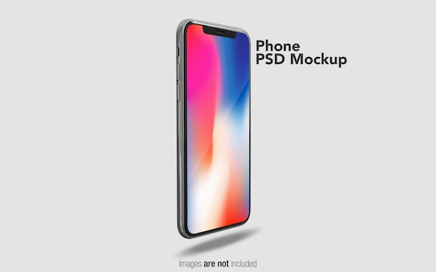 Iphone x psd mockup