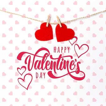 Iscrizione di san valentino felice carino