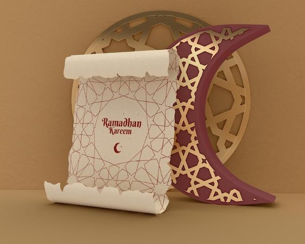Islamitische vormen concept mock-up