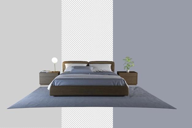 Isometrisch bed in 3d-rendering