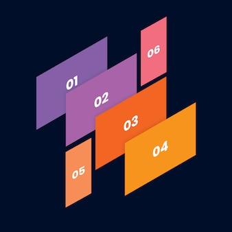 Isometrisch mobiel en web mockup met meerdere schermen