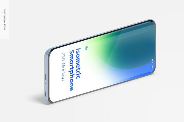 Isometrisch smartphonemodel, landschapsaanzicht