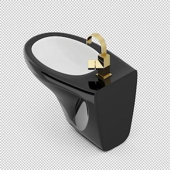 Isometrisch zwart toilet