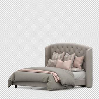 Isometrische 3d bed render geïsoleerd