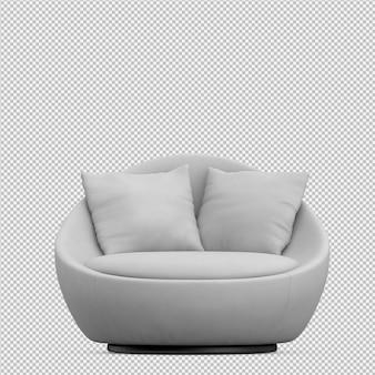 Isometrische 3d-sofa renderen