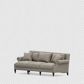 Isometrische 3d sofa