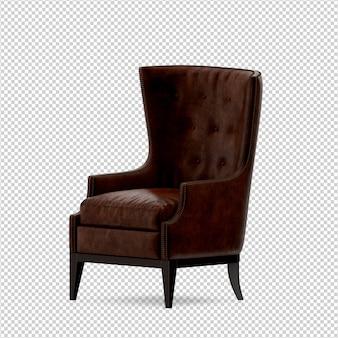Isometrische 3d-stoel geïsoleerd