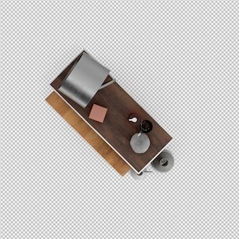 Isometrische badkamer accessoires 3d geïsoleerd render
