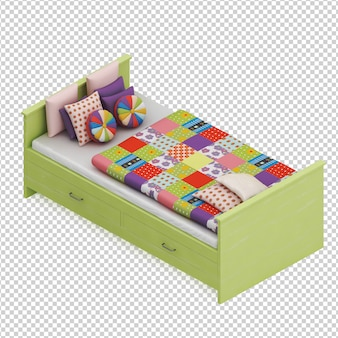 Isometrische bed