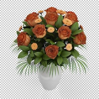 Isometrische bloemen