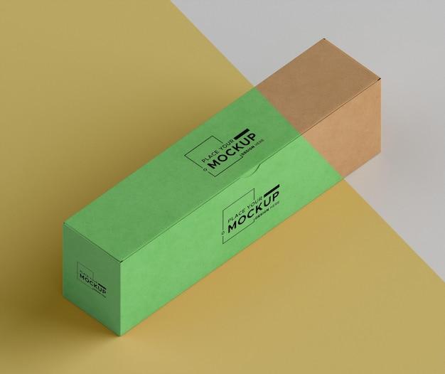 Isometrische box opstelling hoge hoek