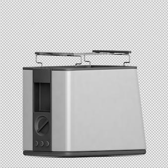Isometrische broodrooster 3d render