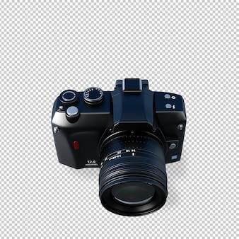 Isometrische fotocamera in 3d render