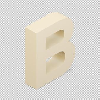 Isometrische geïsoleerd alfabet 3d geeft terug