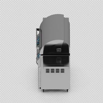 Isometrische geïsoleerde barbecuegrill 3d geeft terug