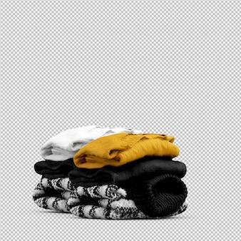 Isometrische geïsoleerde doek 3d geeft terug