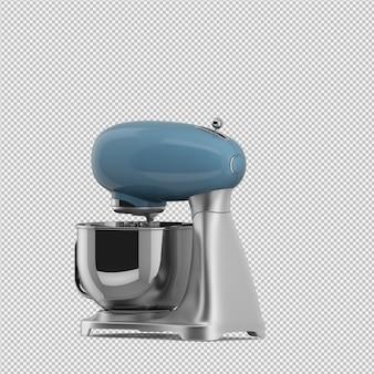 Isometrische geïsoleerde mixer 3d geeft terug