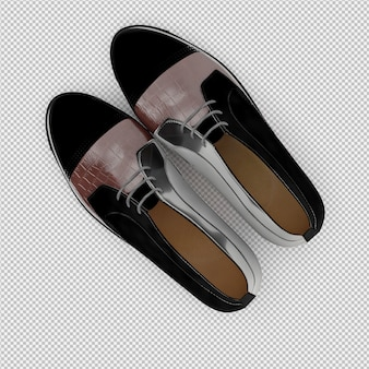 Isometrische geïsoleerde schoenen 3d geven terug
