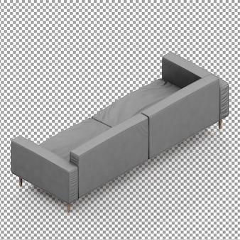 Isometrische grijze bank