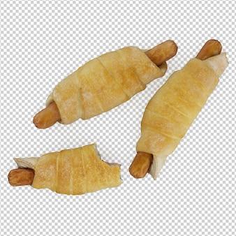 Isometrische hotdog