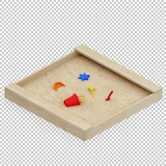 Isometrische jongen zand